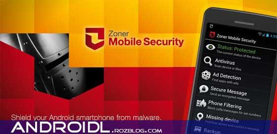 امنیت آندروید با Zoner Mobile Security v1.0.3
